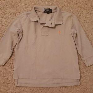 toddler boy long sleeve polo shirt
